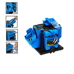 96W Electric Multi Function grinding chisel Sharpener Machine Tool Kit 110V Blue