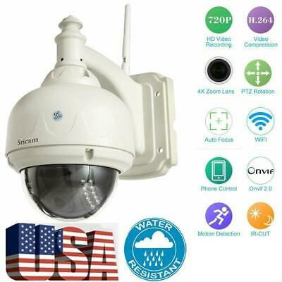 Wireless Sricam PTZ Outdoor Rainproof CCTV Dome Camera P2P Wifi IP Webcam IR-Cut for sale  Shipping to Nigeria