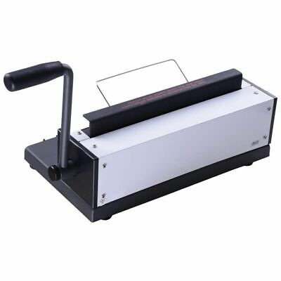 34 Square Holes Metal Wire Coil Punching Machine Paper Binder Puncher Office