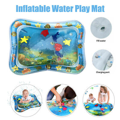 Inflatable Baby Water Play Mat Infant Kid Tummy Time Novelty Fun Activity Center