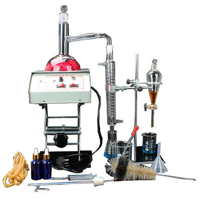 1000ml New Lab Essential Oil Distillation Apparatus Glassware Kits Wheater Lift