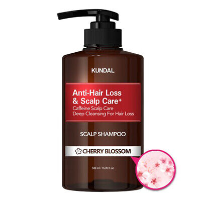 KUNDAL Anti-Hair Loss&Scalp Care+ Shampoo 500ml [Cherry Blossom] K-Beauty