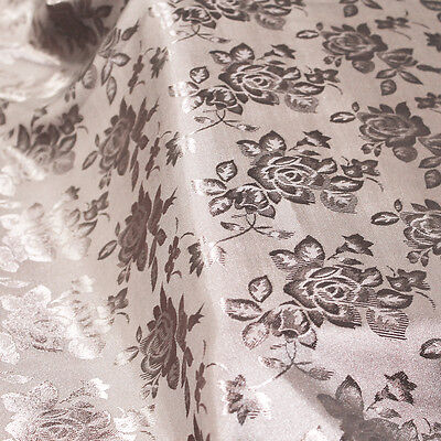 Floral Jacquard Brocade Satin Fabric by the Yard - Style 3006