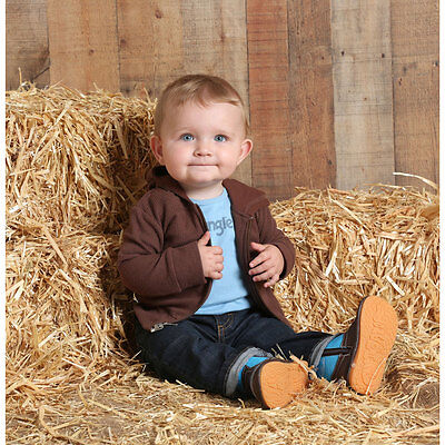 PQK771E Wrangler Baby Thermal Knit Hoodie - Brown NEW - Baby Thermal Hoodie