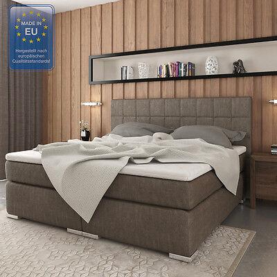 Design Boxspringbett Doppelbett Hotelbett Ehebett Classic 180x200 cm stone