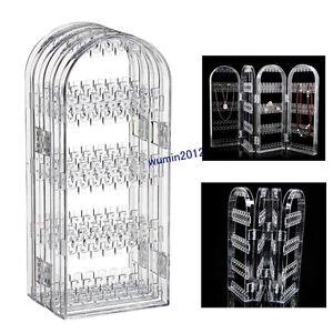 Acrylic Screen Stud Earring Jewelry Display Stand Unit Holder Storage Organiser