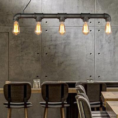 Vintage Industrie Hängelampe Wasserrohr Pendelleuchte Loft Pipe Lampe E27