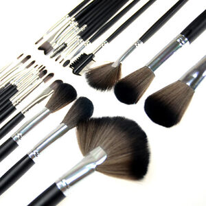 New 24 PC Pro Cosmetic Makeup Brush Brushes Set Kit With Case high quality
