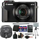 Canon G7X Mark II PowerShot 20.1MP Digital Camera(Black)+ 32GB Top Accessory Kit