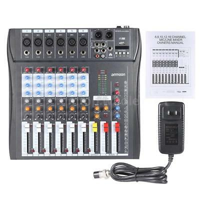 Live Sound Console - ammoon 6/8/12 Channel Live Mixing Studio Audio Sound Mixer Console USB A1Y1