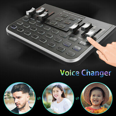 Professional Mobile Phone Webcast Live Sound Card Voice Changer Audio Mixer (Live Sound Audio Mixer)
