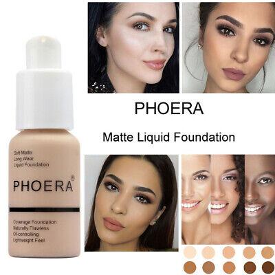 PHOERA Foundation Full Coverage Concealer Makeup Matte Brighten long lasting UK