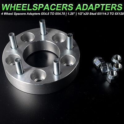 "2x 1.25"" INCH THICK WHEEL SPACERS| 5X4.5 TO 5X4.75 |5X114.3 mm TO 5X120 mm"