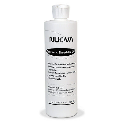 Nuova Synthetic Paper Shredder Oil, 12 oz. Bottle with Flip Top Cap