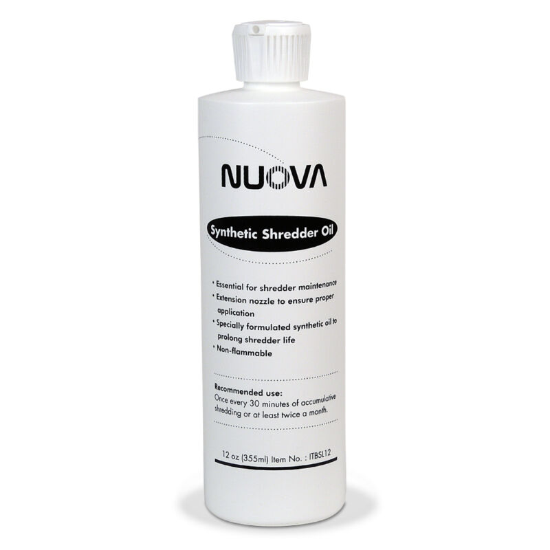Nuova Synthetic Paper Shredder Oil, 12 oz. Bottle with Flip Top Cap