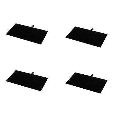 4 Pc 14 X 7-12 Black Velvet Pad Tray Insert Jewelry Display