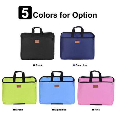 Document Holder Zipper File Bag With Handle Waterproof Canvas Handbag C6x5