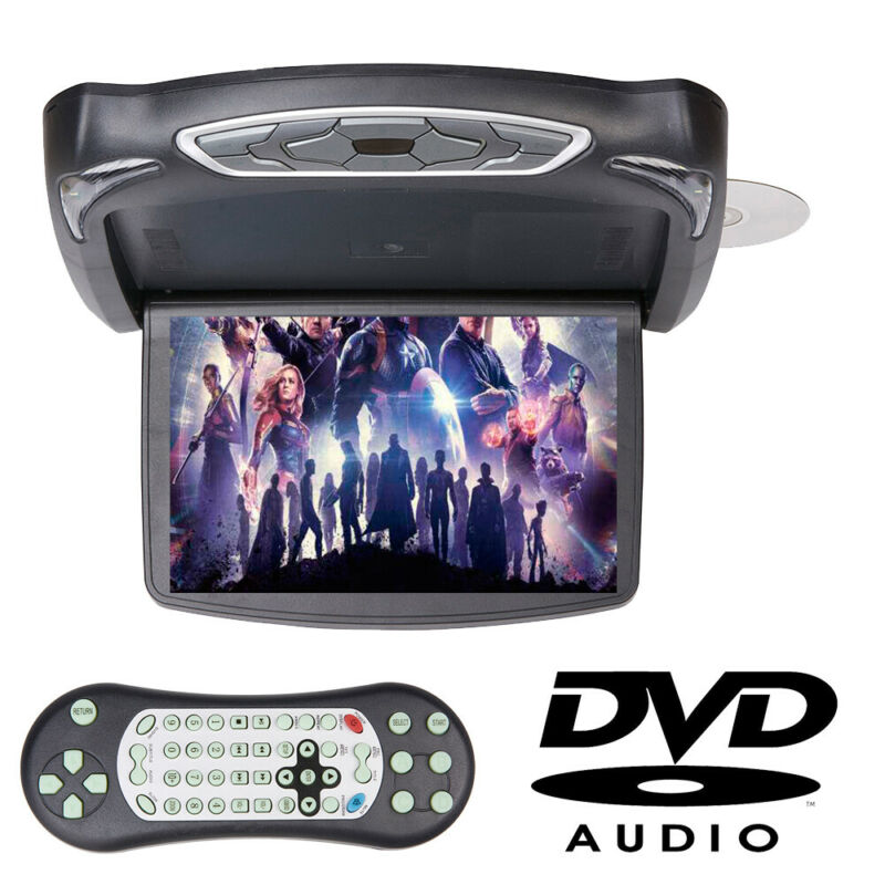"""13.3"""" Flip Down Monitor w/DVD Player Video Car Roof Mount Wide Screen Monitor"""