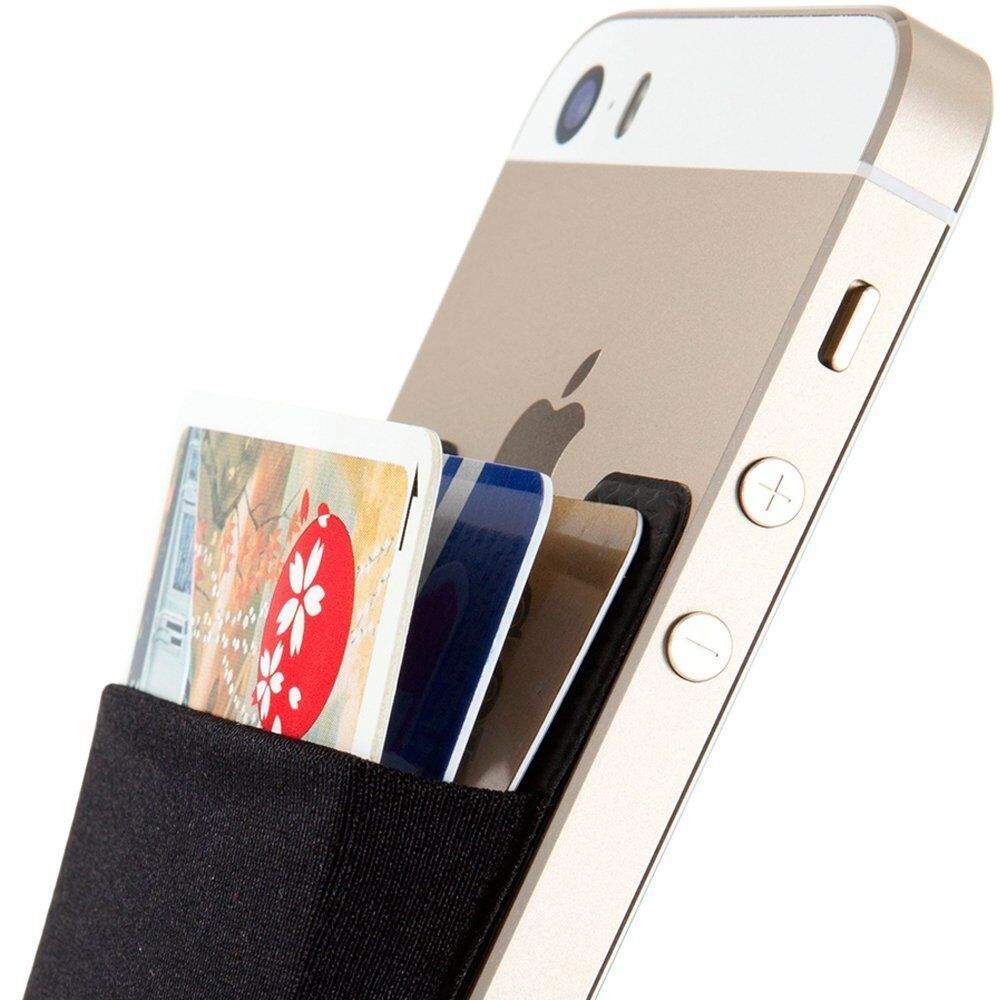 Universal Adhesive Pocket Stick On Wallet Card Holder Pouch Case For Cell Phone Cases, Covers & Skins