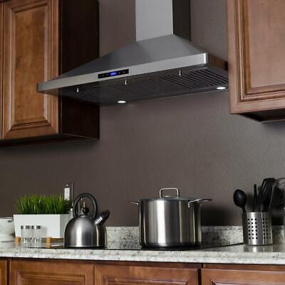 AKDY 36 in. Convertible Kitchen Wall Mount Range Hood in Stainless Steel