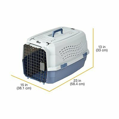 Two Door Top Load Pet Kennel Travel Crate Dog Cat Pet Cage Carrier Box Tray 23""