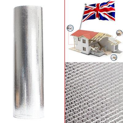 UK Double Foil Aluminum Bubble Insulation Loft Wall Floor Caravan Home Silver