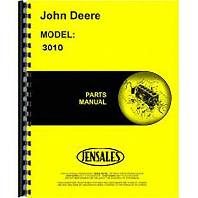 Parts Manual Fits John Deere Tractor 3010