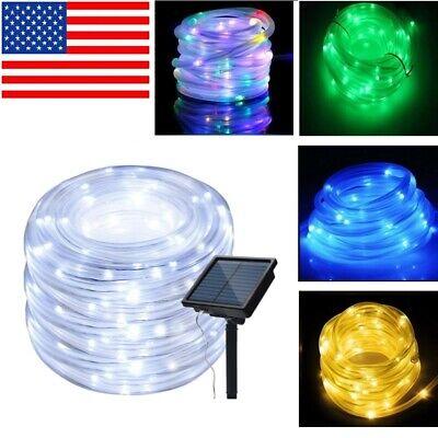 LED Solar String Light Lights Waterproof Copper Wire Fairy Outdoor Garden -