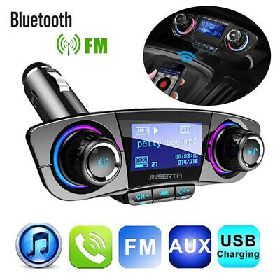 - Bluetooth Handsfree Car Kit FM Transmitter Modulator Aux Audio USB MP3 Player
