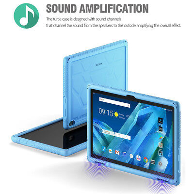 Lenovo Tab 4 10 Plus TabletCase[Grip&DropProtection]SiliconeCover Blue, used for sale  Shipping to India