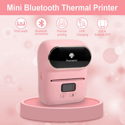 Phomemo M110 Label Printer Portable Bluetooth Thermal Label Maker Android Ios