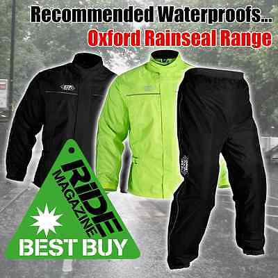 The Oxford Rainseal range is Ride (and Johnny recommended) and in stock for immediate delivery