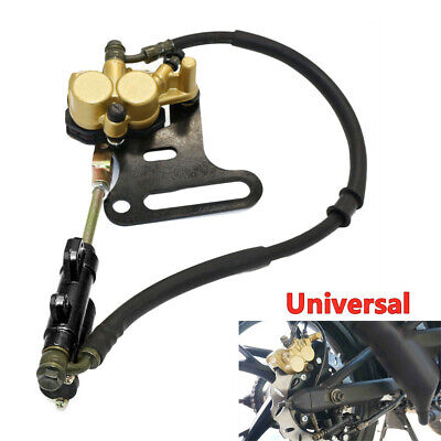 Motorcycle Dirt Bike Hydraulic Rear Disc Brake Caliper w/Master Cylinder Brake