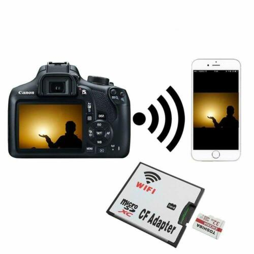 WIFI Memory Card Adapter Micro SD TF To CF Compact Flash Card Kit Adapter New