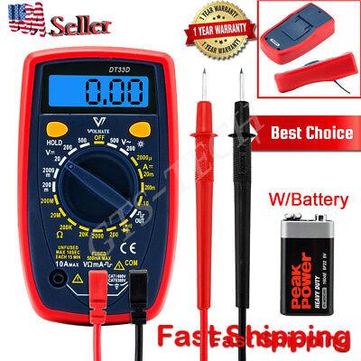 Lcd Back Light Digital Multimeter Multi Tester Voltmeter Ammeter Ohmmeter Ac Dc