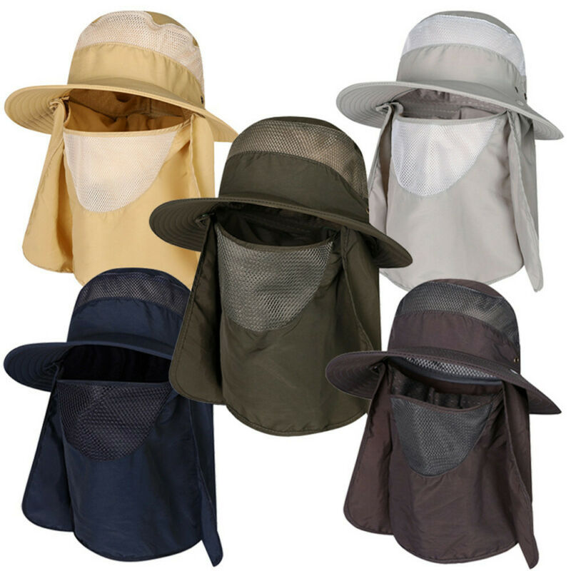 defence sunscreen face mask caps climbing hat