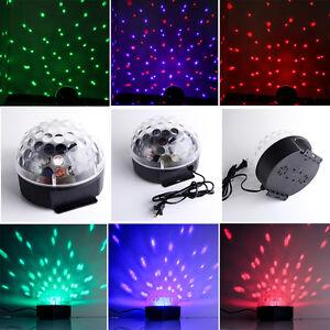 RGB LED Discokugel Bühnenbeleuchtung Laser Disco DJ Lichteffekt Party Strahler