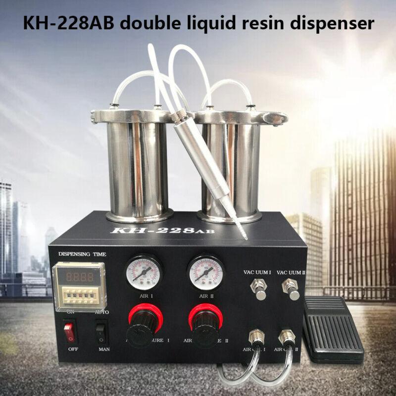 HOT Semi-auto AB Mixing Doming Liquid Glue Dispensing Machine 1:1 1:2 Dispensing