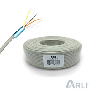 100 m Telefonkabel 2 x 2 x 0,6 Verlegekabel Kabel 4 Adern Telefonleitung Telefon