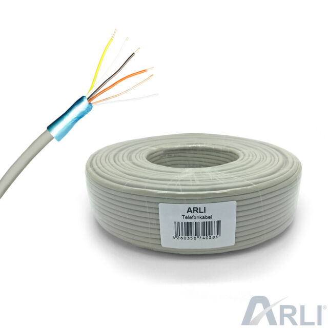Telephone Cable 2x2x0 6 Mm 4 Veins 100m Installation Wire 2 X 2   eBay