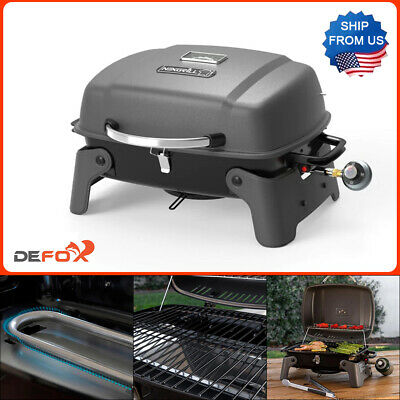 Nexgrill Portable Table Top Grill 1-Burner Propane Gas Stainless Steel Compact