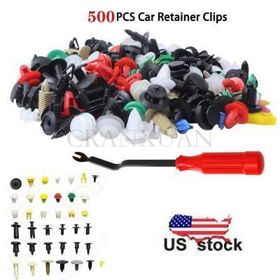 500 Mixed Car Door Bumper Fenders Fastener Retainer Rivet Push Pin Clip Panel US