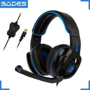 MINT CONDITION SADES GAMMER PC GAMING HEADSET