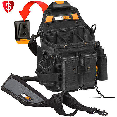 Electrician Tool Pouch Shoulder Strap Electrical Storage Cliptech Holder Belt