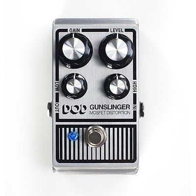DigiTech DOD Gunslinger Mosfet Distortion Guitar Effects Pedal w/ Low & High EQ