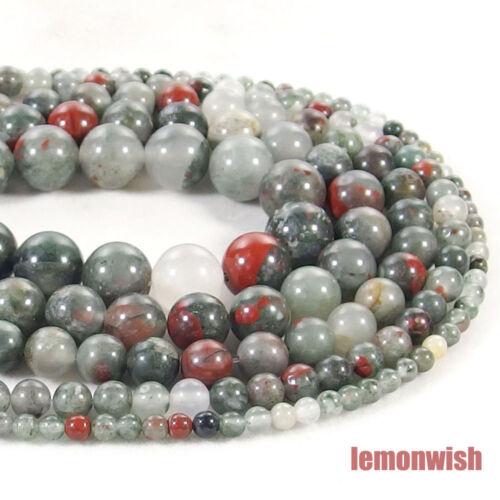 Natural African Blood Jasper Gemstone Spacer Beads 15.5