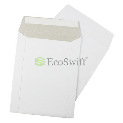 5 - 7 X 9 White Cddvd Photo Ship Flats Cardboard Envelope Mailer Mailers 7x9