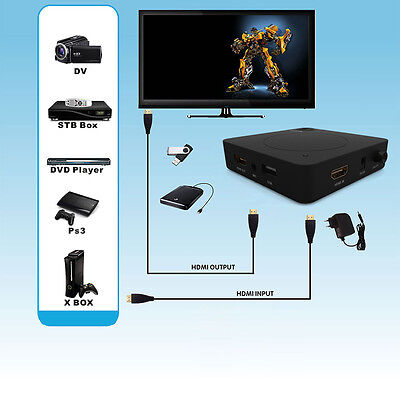 New YK918H HDMI HD HDD Video Capture Box 1080P For Wii PS4 PS3 XBOX DVD PC