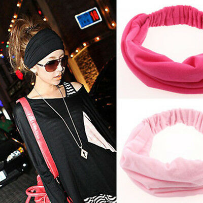 - 2018 Women Sports Turban Twist Knot Head Wrap Headband Twisted Hair Band Stylish
