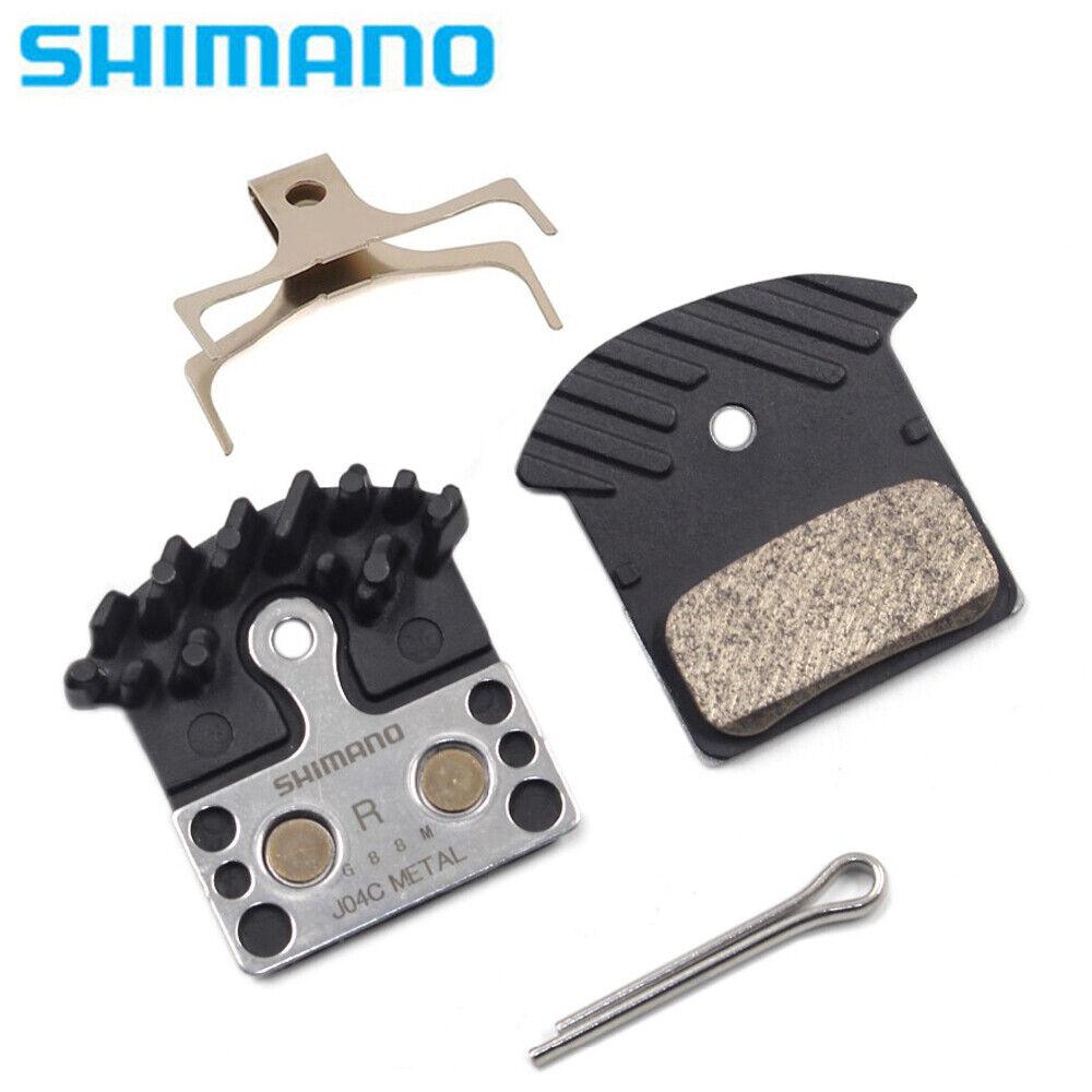 Shimano J04C Metal Cooling Fin Ice Tech Disc Brake Pads SLX Deore XT XTR M8000